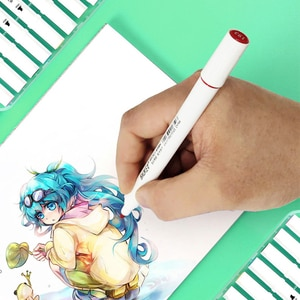 12/24/36Round Rod Marker Set Touch Alcohol Oil Painting Student Double Head Color Art Hand-painted Art Pen Manga Markers