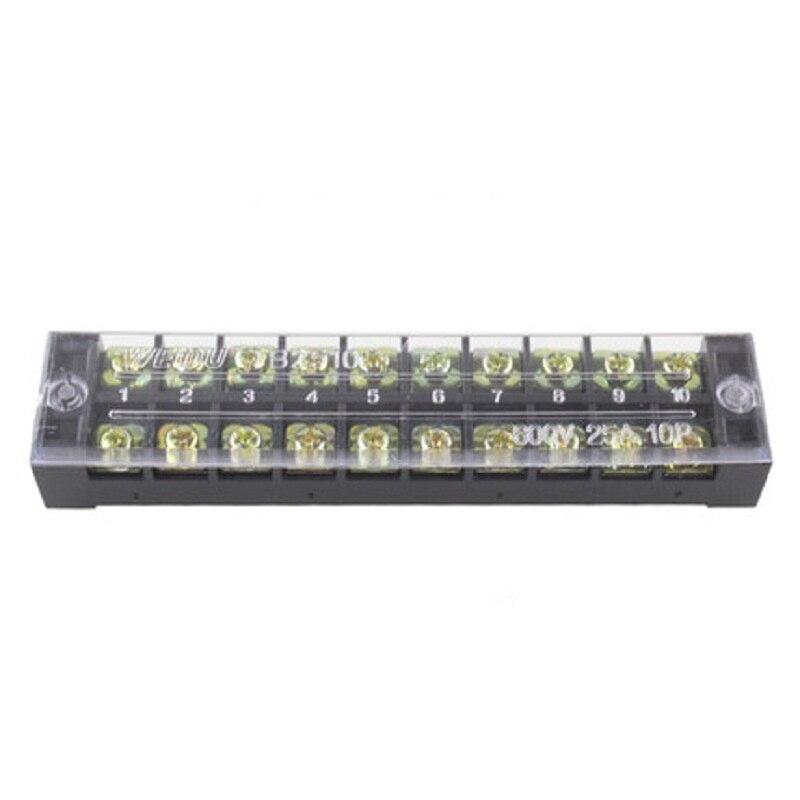 Doble fila de Bloque de terminales de tornillo 15A 600V tablero de cableado fijo cable conector TB1503 TB1504 TB1505 TB1506 TB1508 TB1510 TB1512