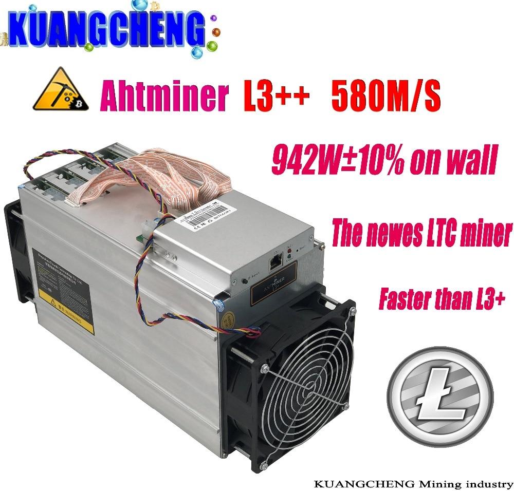 USED OLD ASIC Chip Miner ANTMINER L3++ 580M (NO PSU) Scrypt Miner LTC Litecion Mining Machine Better Than ANTMINER L3+