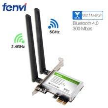 600Mbps double bande sans fil Wifi adaptateur bureau WLan WiFi Bluetooth BT 4.0 802.11 a/b/g/n pci-express 1X/8X/16X carte