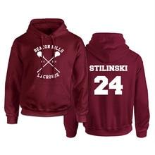 Sweat à capuche homme loup adolescent Stilinski 24 Lahey McCall sweat-shirt homme imprimé rouge à capuche pulls à capuche pour hommes Hip Hop Hoddies Streetwear