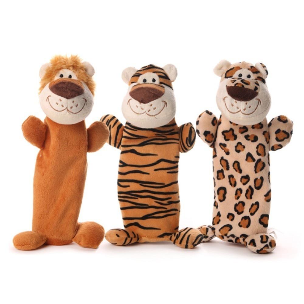 1 pc Bonito do animal de Estimação Cão Mastigar Brinquedos de Pelúcia Cão de Mascar Garrafa Ecológica Tiger Lion Leopard Em Forma de Sorriso brinquedo Brinquedos Jogando Brinquedos para Cães