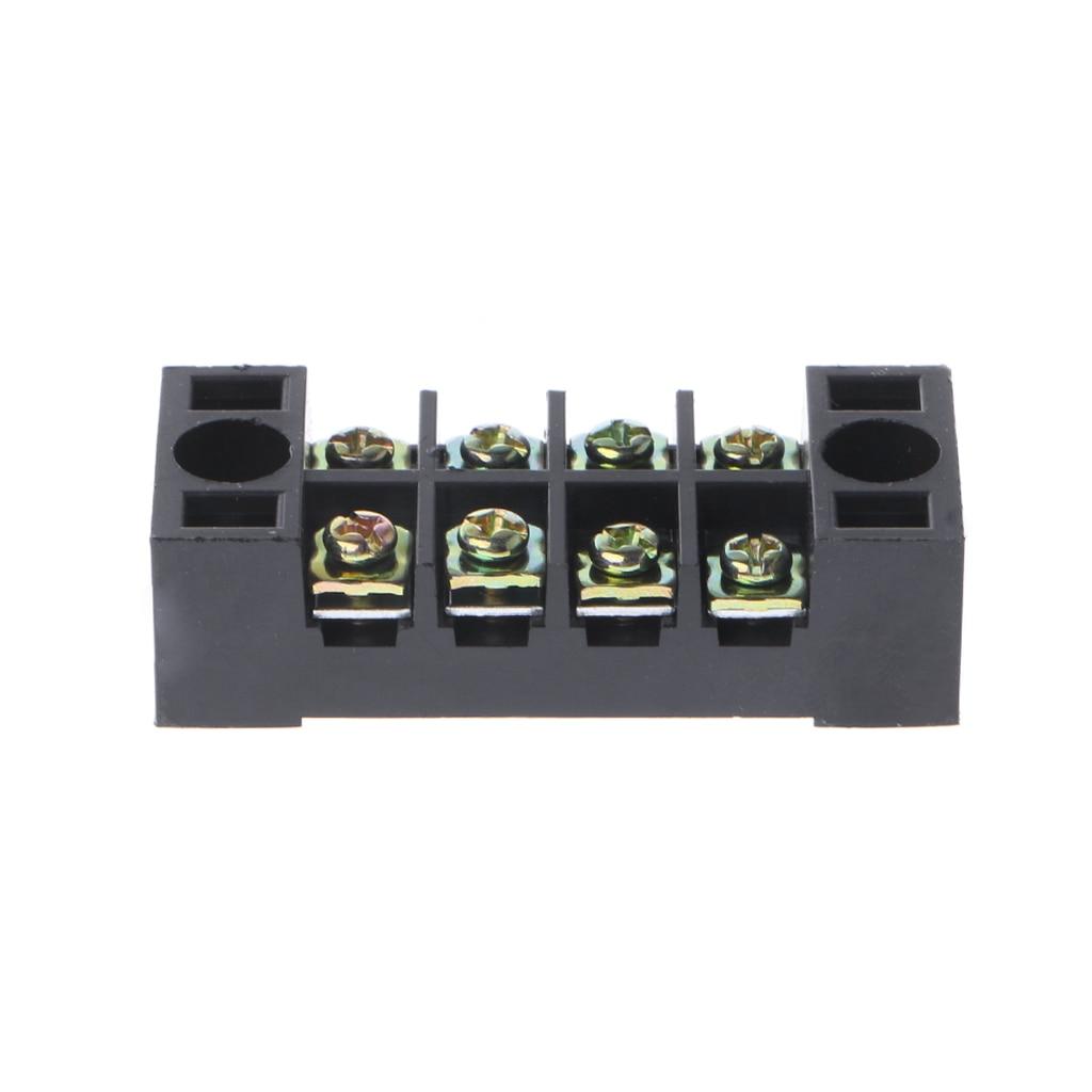 600V 15A 4 posiciones de doble fila cubierta barrera tornillo bloque de terminales