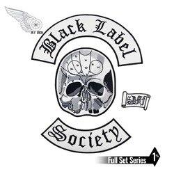 Мужская Байкерская жилетка черного цвета с нашивкой в стиле «Общество» и нашивка в стиле панк, комплект из 4 предметов