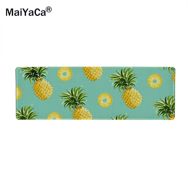 30x90cm size Tropical rainforest summer fruit cute Pineapple Extended Gaming Wide Large Mouse Pad Big Size Desk Mat high quality