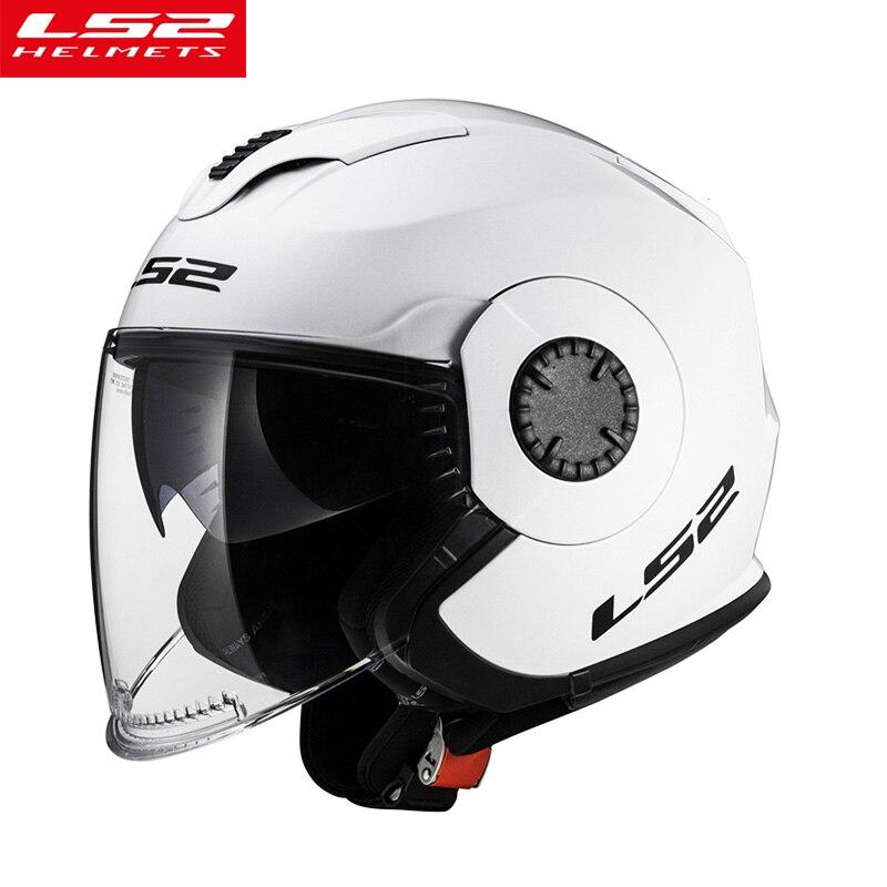 Оригинальный LS2 OF570 Ретро мотоциклетный шлем с двойным объективом скутер vespa Мужская Женская винтажная capacte ls2 с открытым лицом casco moto