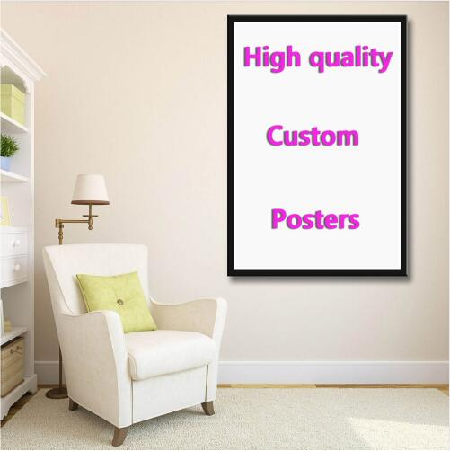 Custom your favorite photo family baby friendship love silk painting poster Decorative Wall