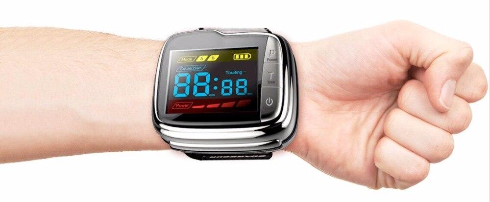 11 قطعة أقطاب ليزر 650nm ليزر ذو مستوى منخفض العلاج ساعة معصم للاستخدام المنزلي