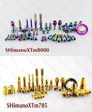 Titane TC4 Srews boulons groupe or arc-en-ciel ensemble pour SHIMANO XT XTRM785 M8000