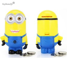 3D Minions Cartoon Piggy Bank Geld Box hucha Saving Münze Cent Penny Kinder Spielzeug E0