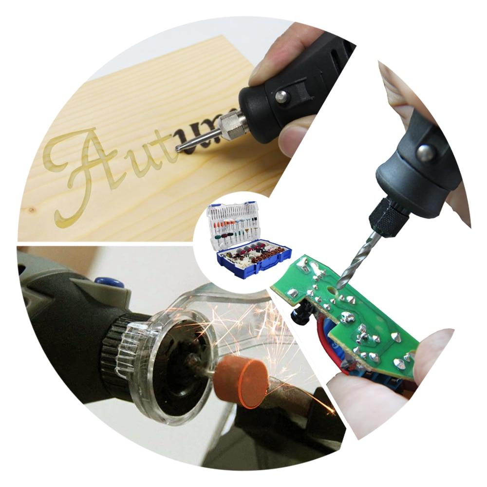 Sada elektrických mini vrtáků 268ks Sada příslušenství - Brusné nástroje - Fotografie 5