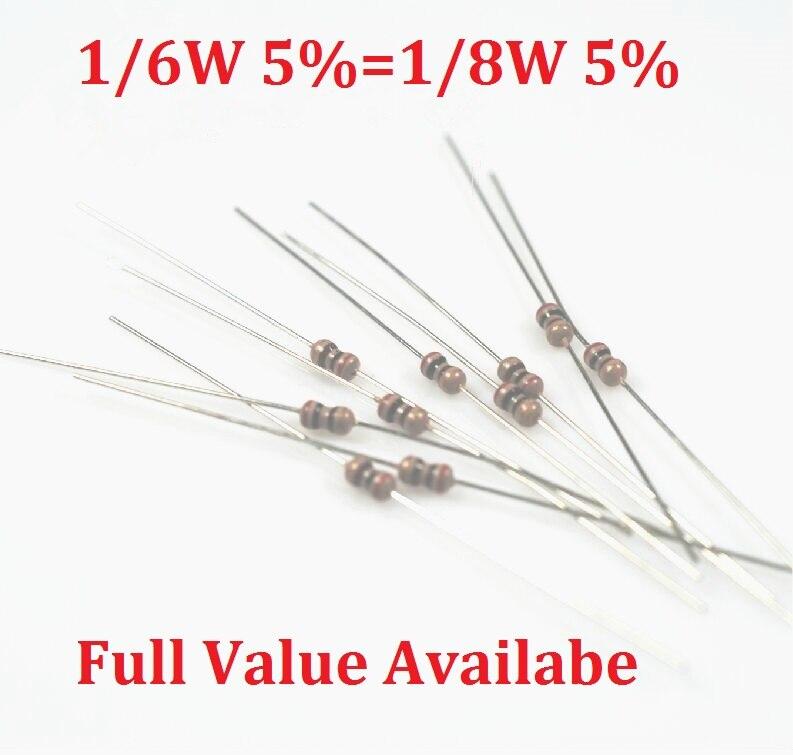 1000 unids/lote 1/6W 10K resistencia 8,2 K/9,1 K/10 K/12 K/15 K 1/8W Metal resistencia anillo de color resistores de película de carbono