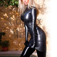 100 handmade club sexy womens sheath fetish latex dress without chest decoration and gloves in silver color