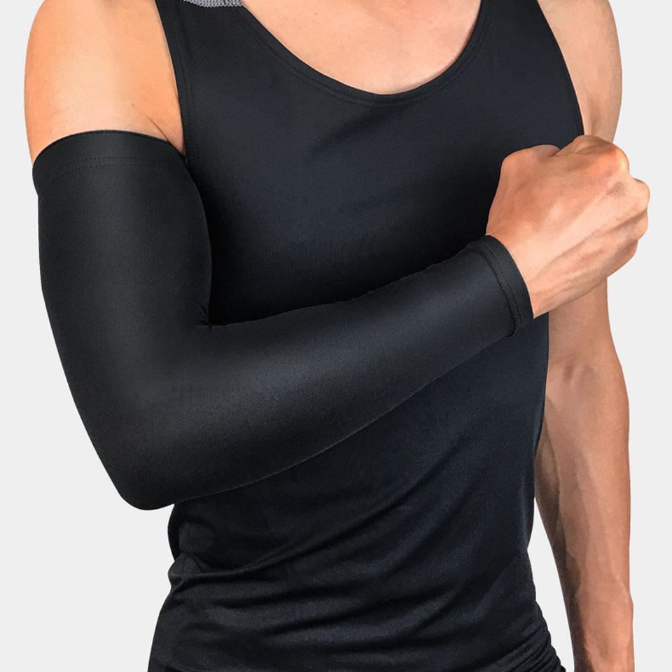 1 pçs braço de basquete manga cashmere braço quente voleibol braçadeira respirável ciclismo cotovelo almofadas suporte cinta compressão