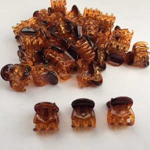 1.4cmx1.6cm 12pcs/pack Plastic Jaw Clip Hair Claw Clip Jaw Clamp Black Amber Mix Colors For Women Girls Baby