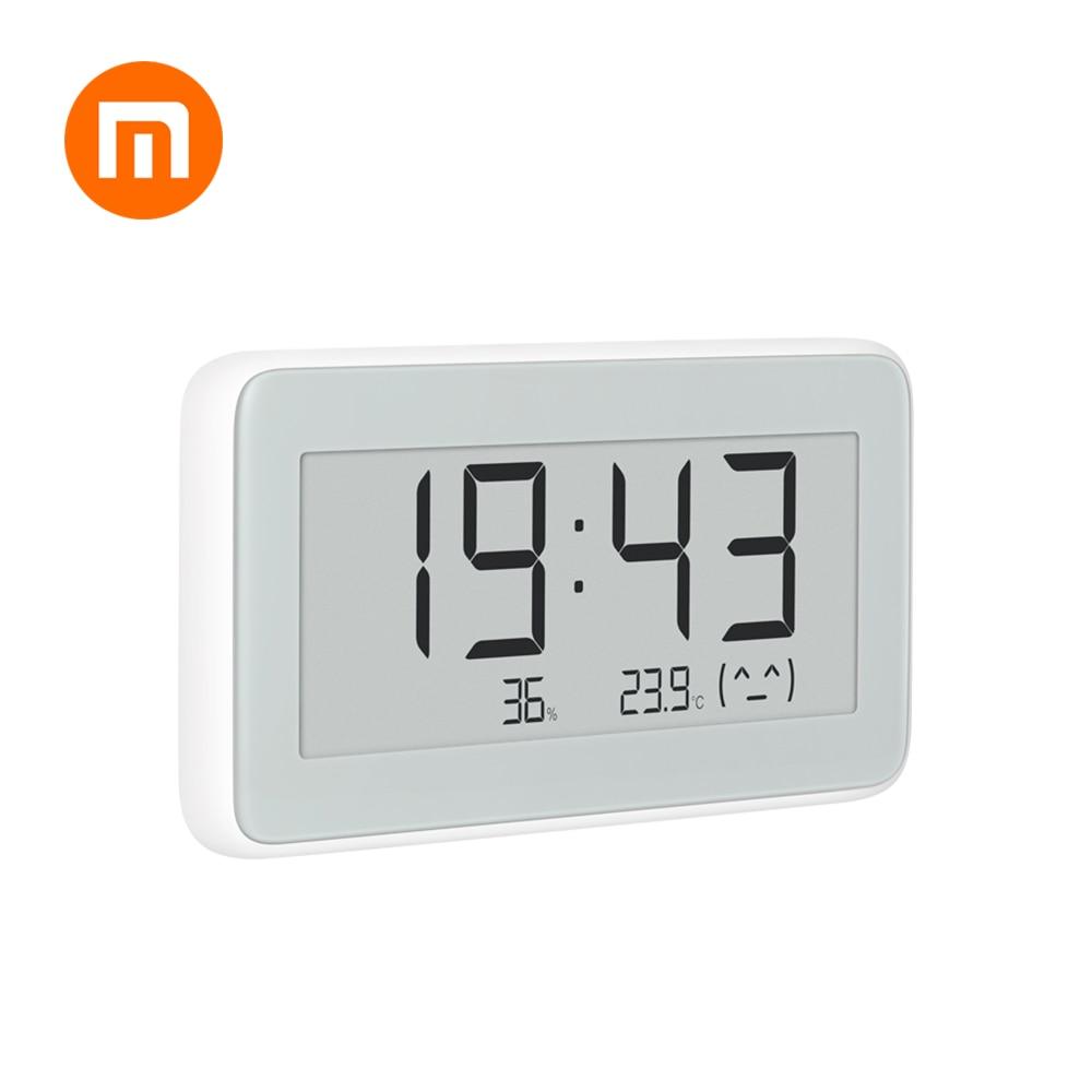 Quente em estoque original xiaomi mijia miaomiaoce bt4.0 sem fio inteligente elétrico digital indoor & outdoor higrômetro terômetro relógio