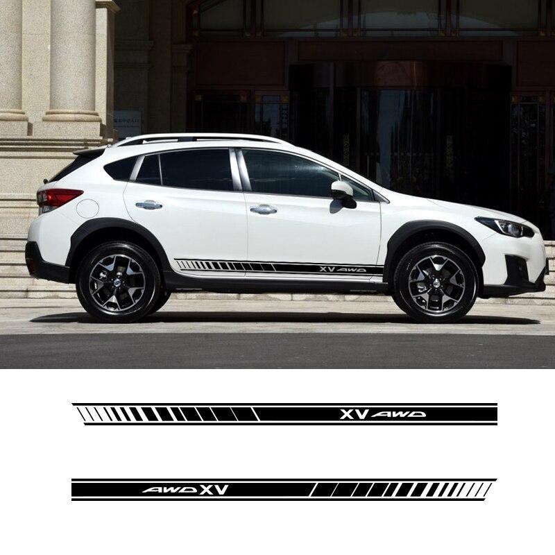 2 lados xv gráficos do carro vinil listras laterais auto adesivo decalques estilo do carro para subaru xv