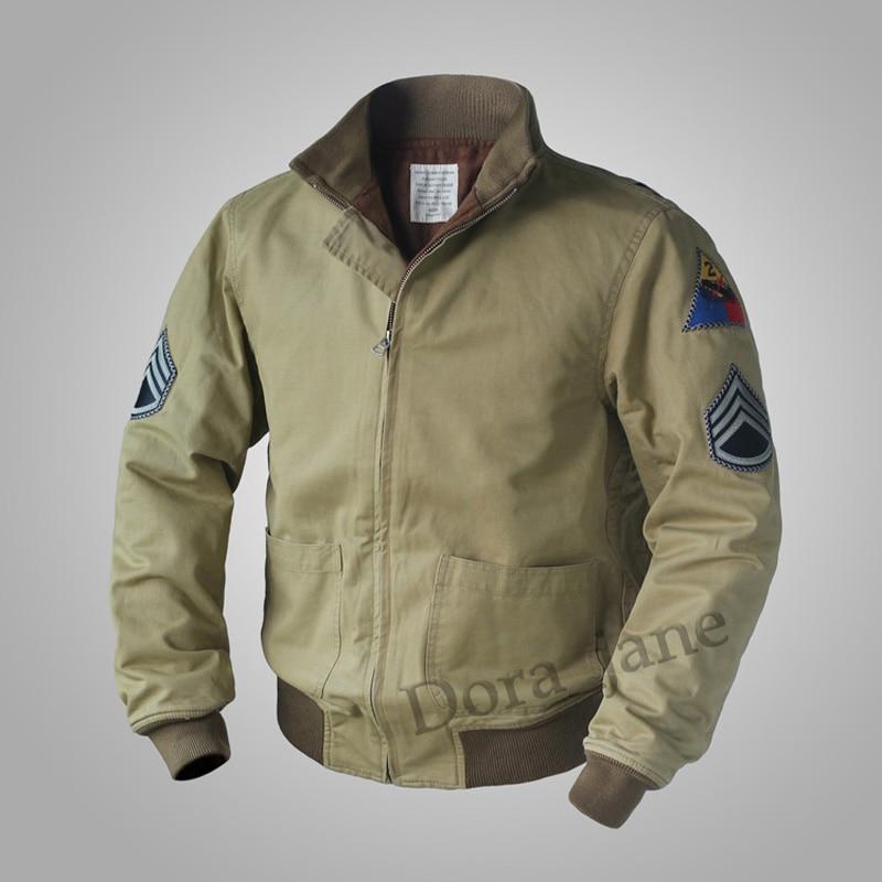 FURY misma réplica M41 tanque Bolsillo tipo parche chaqueta Vintage lana WW2 hombres militar abrigo ejército Otoño/ropa de calle de primavera 36-44 #