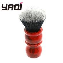 26MM Yaqi marbre rouge rasage brosse smoking brosse rasage pour homme