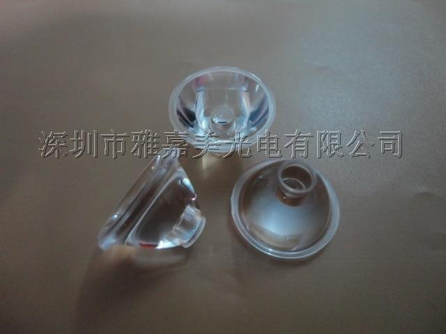 CREE-XP diámetro de la lente 20mm superficie lisa, 5 grados 10 15 o 20 30 45 60 85 grados lente Led, lente xlámpara XPE XPG2