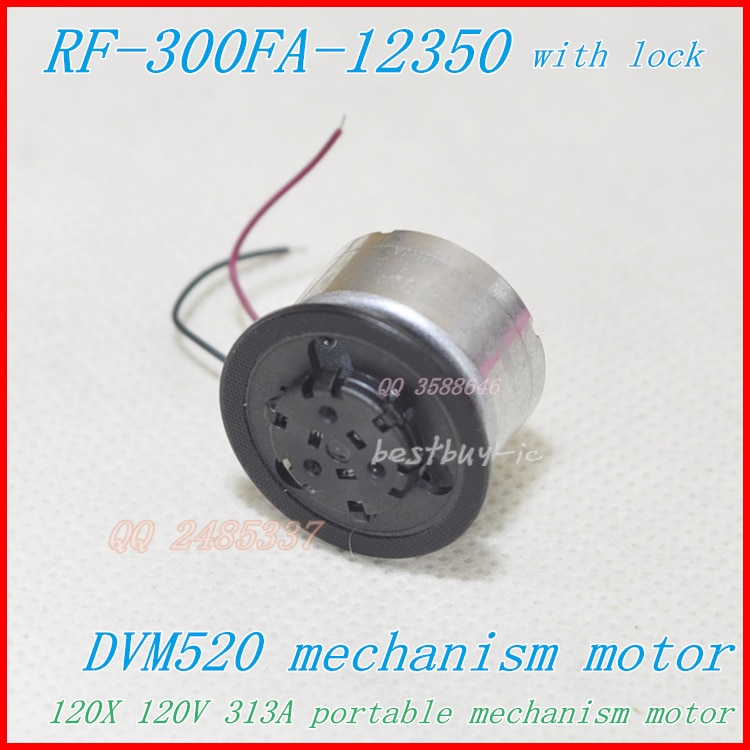 Portable EVD DVD Motor RF-300FZ-12350  Black jacket with lock ( SF-HD850 / SF-HD870 120X) DVM520 spindle motor RF-300CA-12350