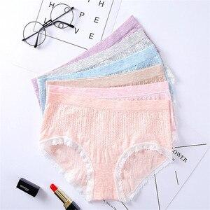 Free shipping/Amazon Hot Selling Pure Cotton Underwear Low Waist Women Lace Panties