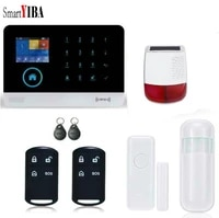 SmartYIBA     systeme dalarme de securite domestique intelligent sans fil  wi-fi  GSM 4G  RFID  detecteur de mouvement  Protection contre lincendie  avec camera IP