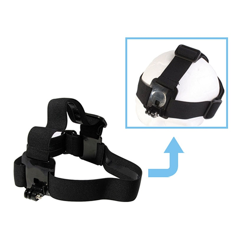 Para GoPro accesorios Cámara de Acción correa elástica ajustable cinturón de cinta para Go Pro 5 4 SJCAM SJ4000 EKEN H9 Xiaomi Yi Cam