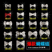 100 pièces alliage ongle accessoire goujons clair arc cristal perle arc ongles charmes/ongles bijoux, strass arc diamant ongles bijoux