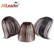 Alileader الهواء شقة الانفجارات هامش الشعر التمديد شعر حقيقي الشعور وهمية شعر مستعار مع الجانب المعابد النساء السود الانفجارات يمكن مصبوغ