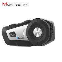 1000 м M6 плюс мотоциклетная Bluetooth гарнитура для шлема, MP3 FM Голосовая команда, проводная в 2 направлениях радио, Handsfree BT Interphone
