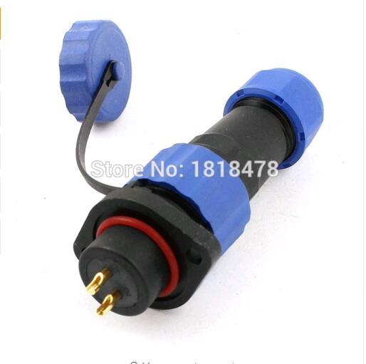 SD13 13mm 5 Pin con reborde impermeable aviación toma de conexión IP68 1 2 3 4 5 6 7 Pin