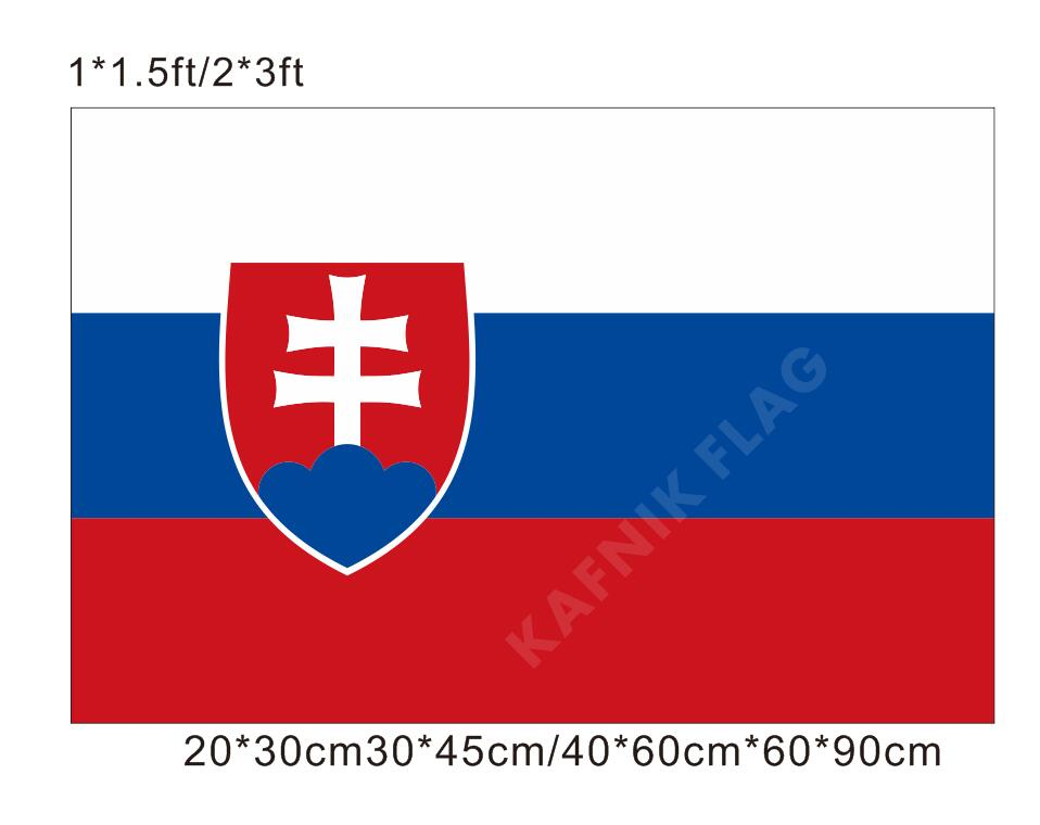 KAFNIK ¡envío gratis 20*30 cm/30*45 cm/40*60 cm/60*90 cm banderas pequeñas Bandera de Eslovaquia estandarte eslovaco para los países evento mundial banderas