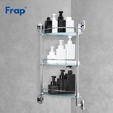 Estante de baño Frap, 3 capas, inodoro de vidrio, estantes de pared multiusos, canasta de champú para baño, accesorios de baño, F1907-3