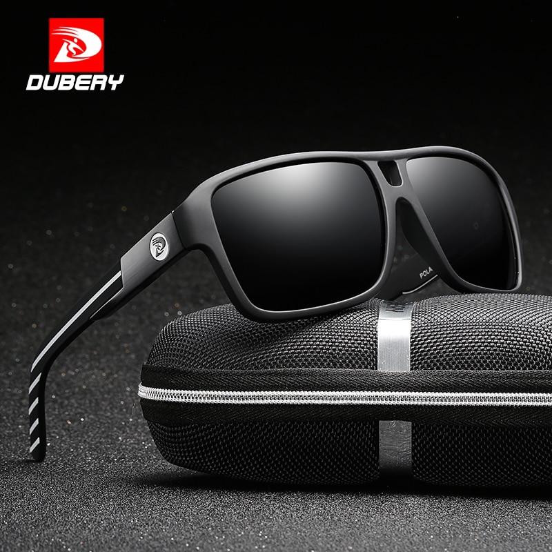 Солнцезащитные очки DUBERY для мужчин и женщин, поляризационные очки для вождения автомобиля, спортивные роскошные брендовые дизайнерские оч...