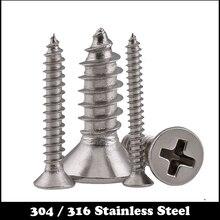 M4 M4 * 60 M4x60 M4 * 150 M4x150 304 316 paslanmaz çelik SS DIN7982 çapraz phillips gömme başlı CSK düz akıllı vida