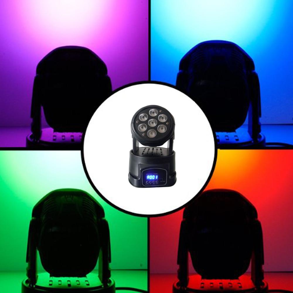 1 قطعة/الوحدة تتحرك رئيس LED غسل المرحلة الإضاءة 7X10W RGBW 4IN1 المهنية DMX512 ل ديسكو DJ الموسيقى حفلة KTV ملهى ليلي أضواء