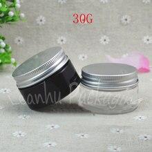 Pot à crème en plastique 30G avec argent, récipient cosmétique vide 30CC, sous-embouteillage masque/crème (50 PC/Lot)