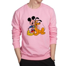 Mickey and dog cartoon hoodies good friends sweatshirt funny anime hoodie harajuku cotton casual hoodie men hip hop streetwear