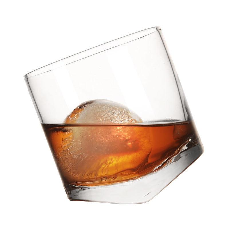 Creative Shake Whisky Rocking Glass Tumbler Glass Wine Beer Mug Beer Glasses Cocktail Bar 10 Oz Brandy Snifters Verre