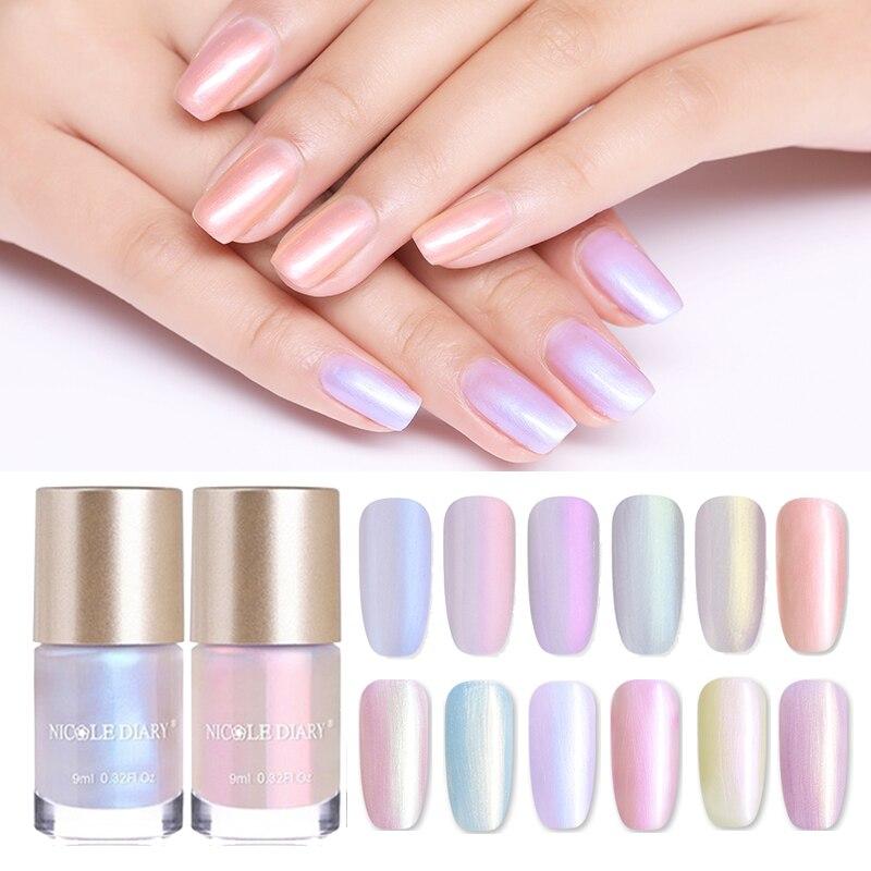 Набор лаков для ногтей NICOLE DIARY, 9 мл, блестящий прозрачный Блестящий лак для ногтей, 6 мл