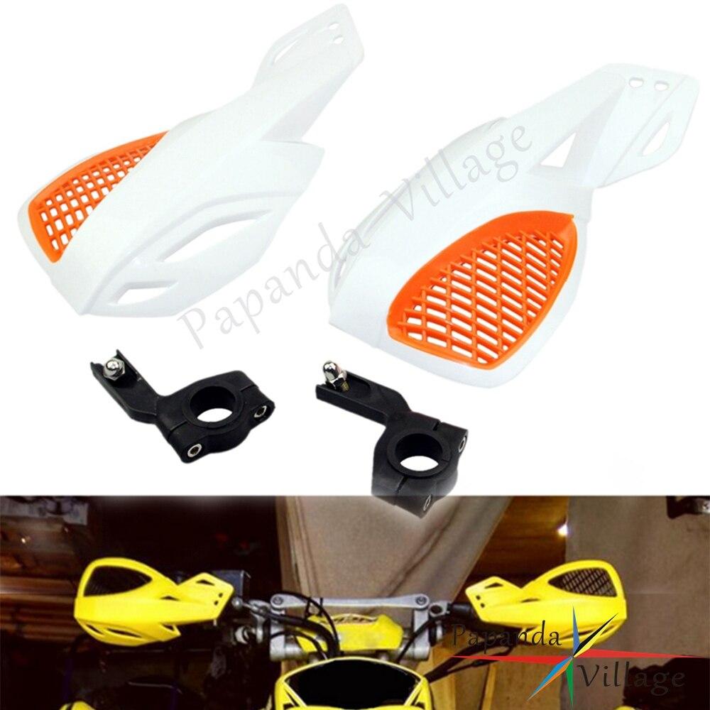 Protector de manos blanco de 7/8 pulgadas para motocicleta, protectores de manos universales para Kawasaki Honda Yamaha Suzuki KTM SX EXC XCW SMR