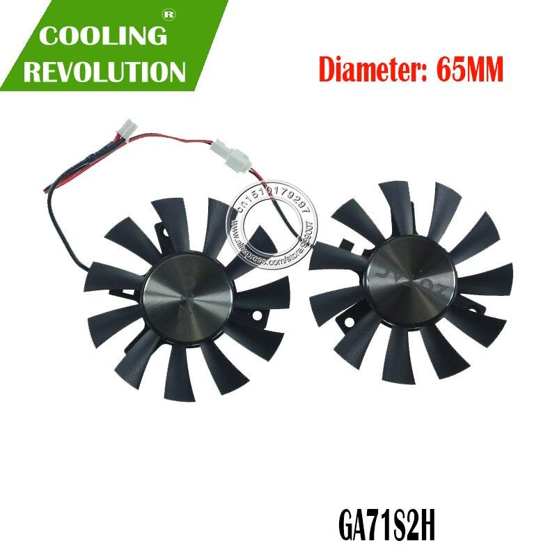 Nuevo para GTX1050 ZOTAC GeForce GTX 1050 Ti OC 4GB GDDR5 128BIT para APISTEK GA71S2H ANTA DC12V 2Pin ventilador de refrigeración de tarjeta gráfica GPU