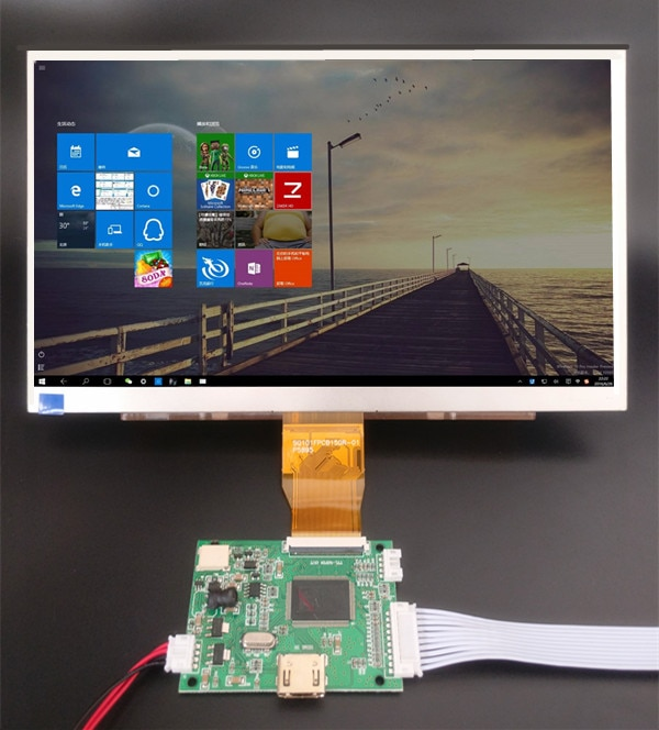 10.1 inches 1024*600 Screen Display LCD TFT Monitor with Remote Control Driver Board HDMI for Orange