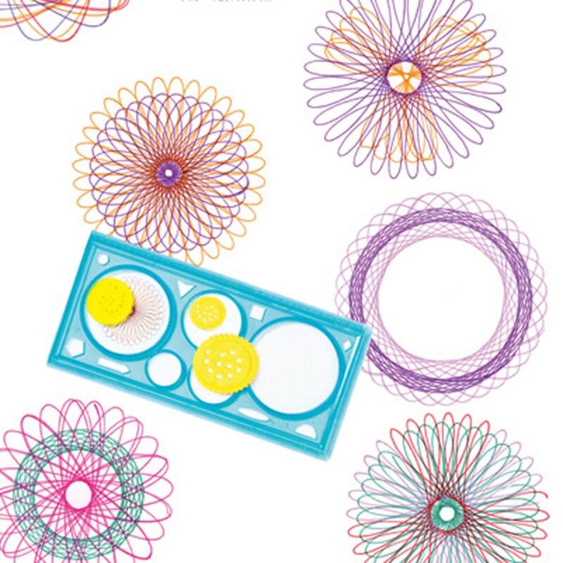 1 PC Spirograph Geometrische Herrscher Lernen Zeichnung Werkzeug Schreibwaren Für Schüler Zeichnung Set Kreative Geschenk