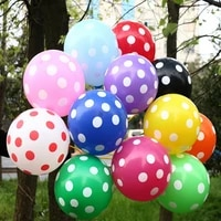 hot 12 50pcslot latex polka dot balloon for party wedding birthday decoration