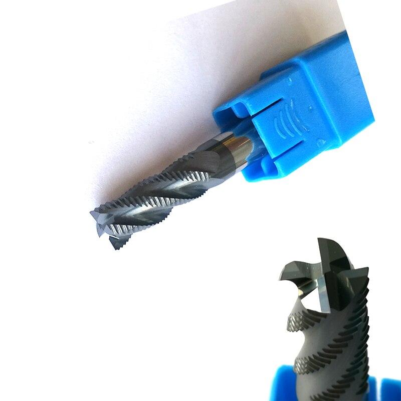 10mm x 25mm Desbaste End Mills HRC45 4 flautas fresas CNC Fresa de Topo Tools fresas Carbide áspera pedaços de moagem