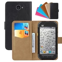 luxury wallet case for caterpillar cat s30 pu leather retro flip cover magnetic fashion cases strap