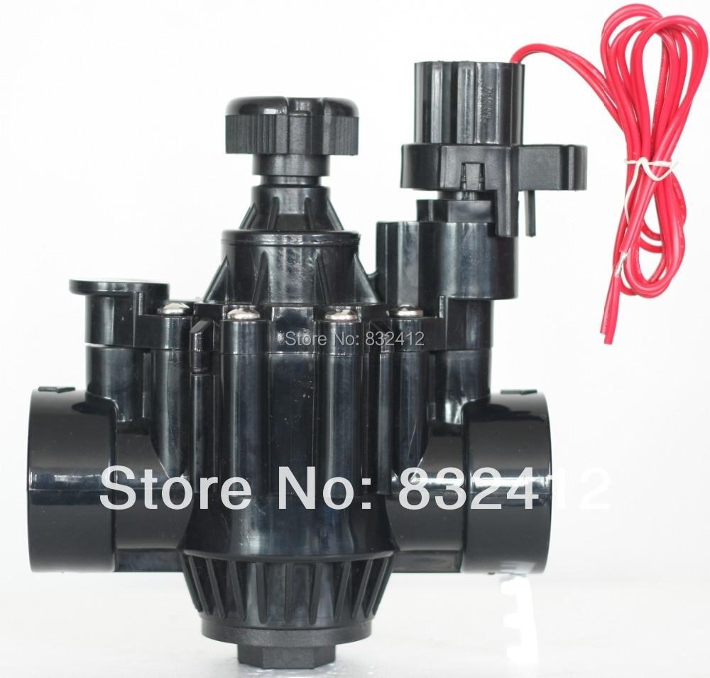 "Freeshipping Garden lawn irrigation control  AC24V plastic Electric solenoid valve 11/2""BSP"