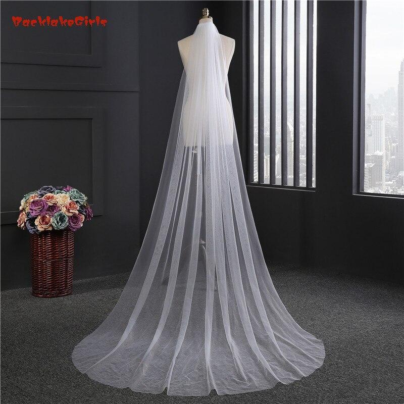 Backlakegirls 2018 novos véus de noiva com pente 2 metro 1 camadas elegante macio tule branco marfim acessórios casamento véu